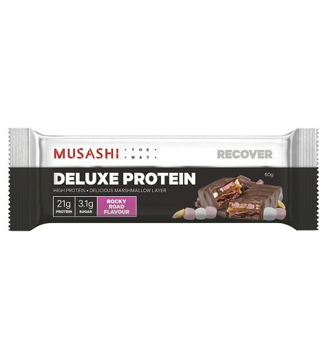Musashi Deluxe Rocky Road Protein Bar 60g