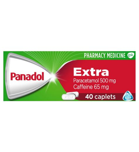 Panadol Extra 40 Caplets With Optizorb
