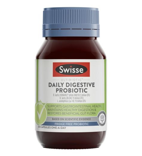 Swisse Ultibiotic Daily Digestive Probiotics 30 Capsules