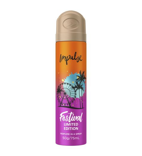 Impulse Perfume In A Spray Festival Summer Edition 75ml