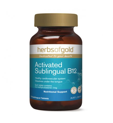 Herbs Of Gold Activated Sublingual B12 Tablets 75