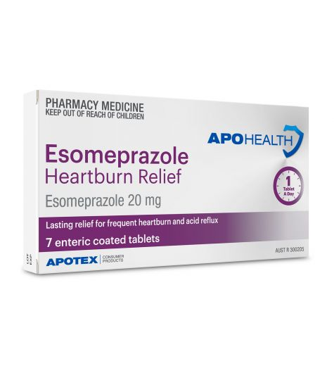 Apohealth Esomeprazole Heartburn Relief 20mg Tablets 7