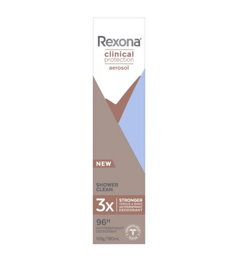 Rexona Womens Clinical Protection Shower Clean Deodorant 180ml