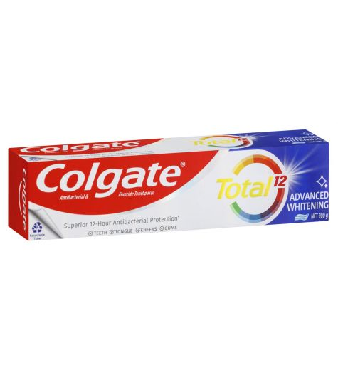 Colgate Total Advanced Whitening Antibacterial & Fluoride Toothpaste 200g