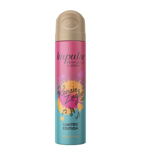 Impulse Body Spray Aerosol Deodorant Kenzie Ziegler 75ml