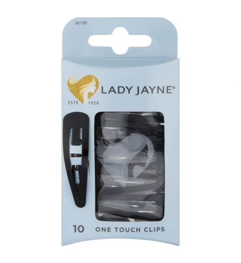 Lady Jayne One Touch Clips Black Pack 10