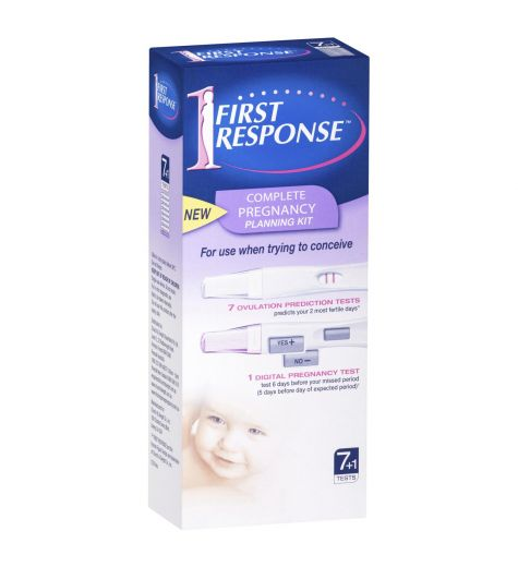 First Response Complete Pregnancy Planning Kit 7 + 1 Tests