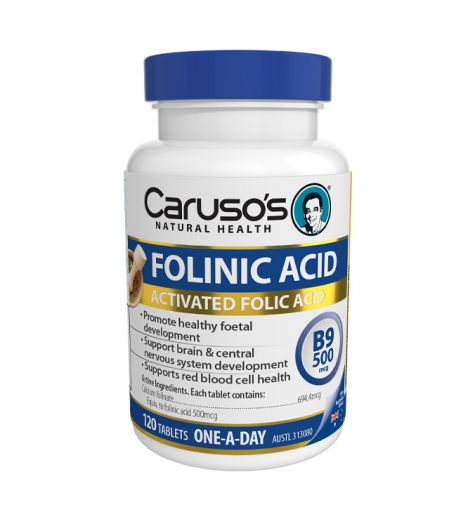 Caruso's Natural Health Folinic Acid Tablets 120