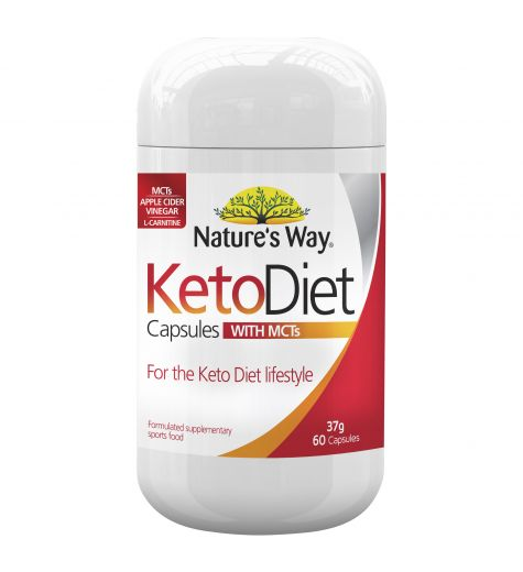 Natures Way Keto Diet Capsules With MCTs 60 Capsules