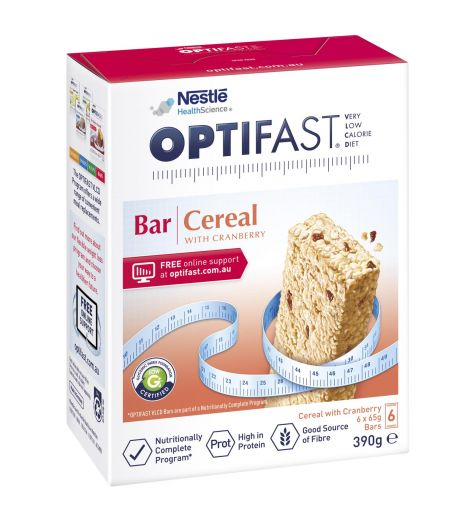 Optifast VLCD Cereal Bar 6 x 70g