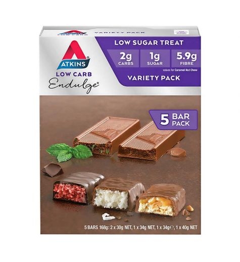 Atkins Low Carb Endulge Variety Bars 5 Pack