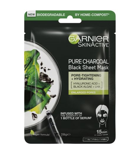Garnier Skin Active Pure Charcoal Tissue Mask With Black Tea