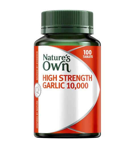 Natures Own High Strength Garlic 10,000mg Tablets 100