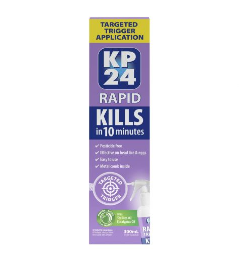 KP24 Rapid Targeted Trigger Head Lice Application Spray 300ml