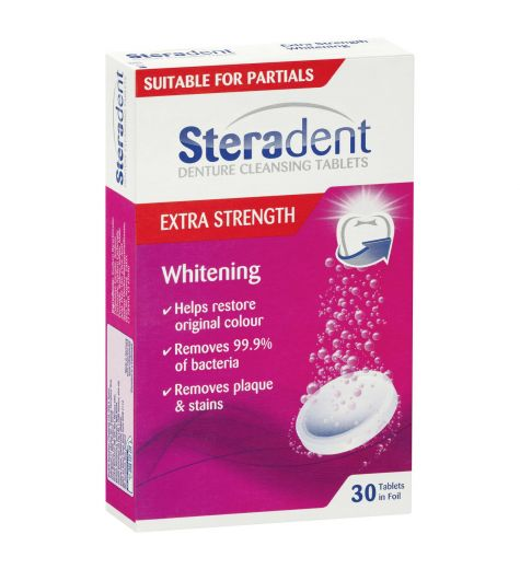 Steradent Extra Strength Whitening Tablets 30