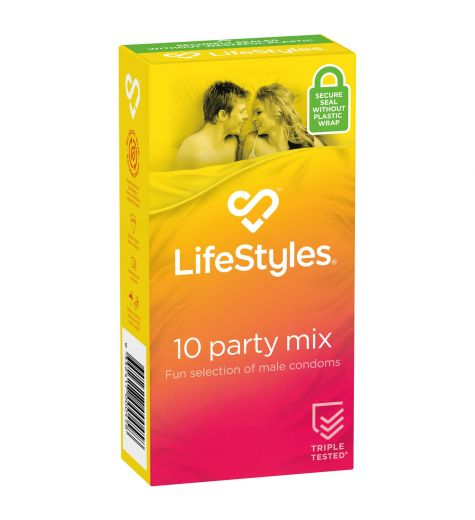 LifeStyles Party Mix Condom 10 Pack