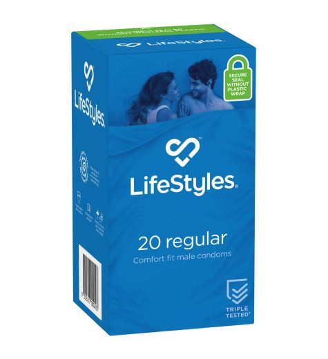 LifeStyles Regular Condoms 20 Pack