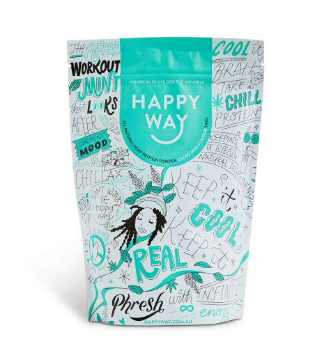 Happy Way Cacao Mint All Natural Hemp Protein Powder 500g