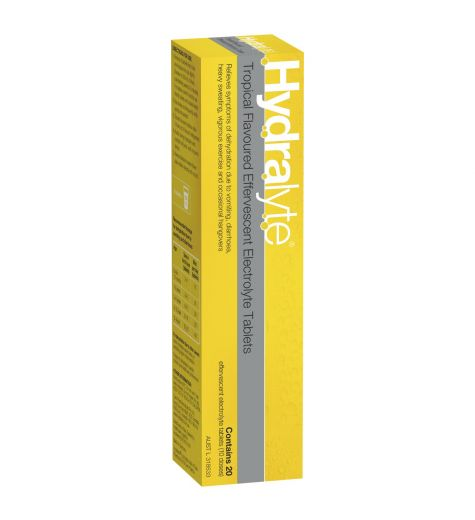 Hydralyte Tropical Flavoured Effervescent Electrolyte Tablets 20