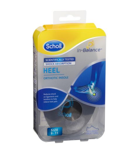 Scholl In-Balance Heel Orthotic Insole Size 9-11