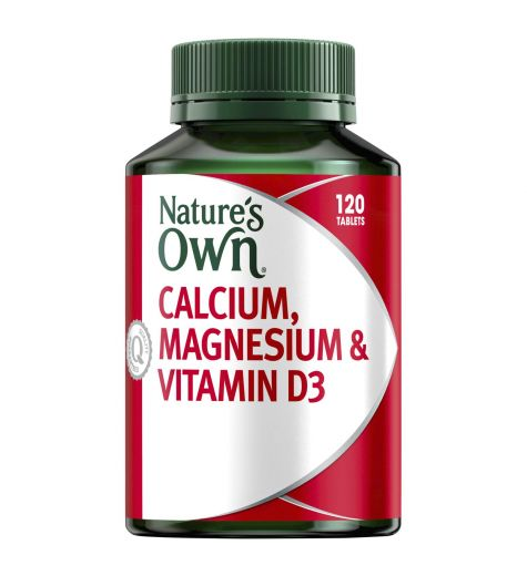 Natures Own Calcium, Magnesium & Vitamin D3 Tablets 120