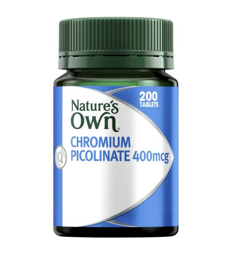 Natures Own Chromium Picolinate Tablets 200