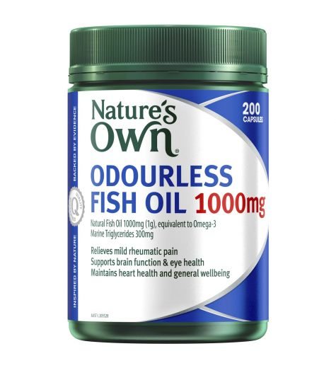 Natures Own Fish Oil 1000mg Capsules 200 Odourless