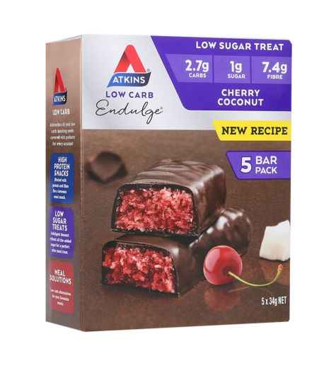 Atkins Low Carb Endulge Cherry Coconut Bars 5 Pack