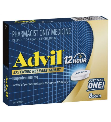 Advil 12 Hour 600mg Extended Release Tablets 8