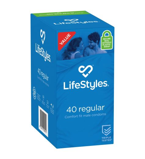 LifeStyles Regular Condoms 40