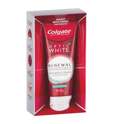 Colgate Optic White Renewal Lasting Fresh Toothpaste 85g