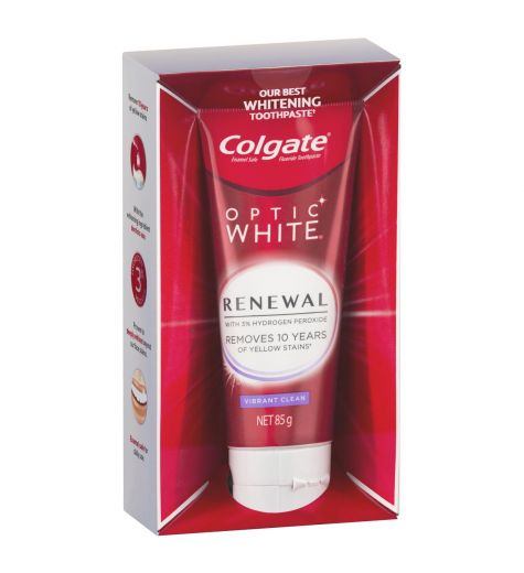 Colgate Optic White Renewal Vibrant Clean Toothpaste 85g
