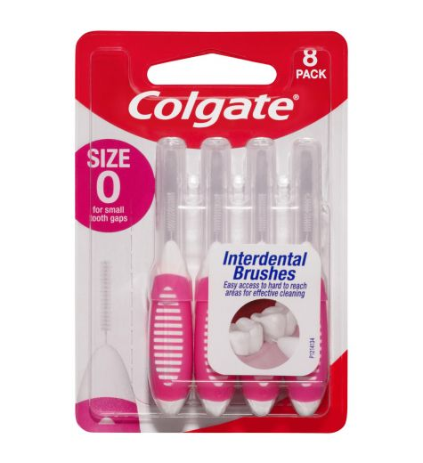 Colgate Size 0 Interdental Brushes 8 Pack