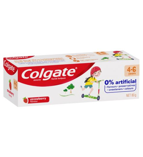 Colgate Anticavity Kids 4-6 Years Strawberry Toothpaste 80g