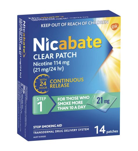 Nicabate CQ Clear 21mg 14 Patches