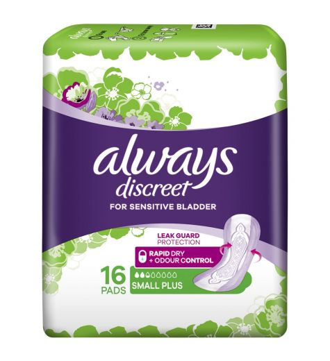 Always Discreet Small Plus Pads 16 Pack
