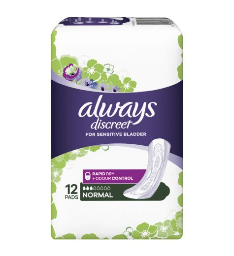 Always Discreet Normal Pads 12 Pack