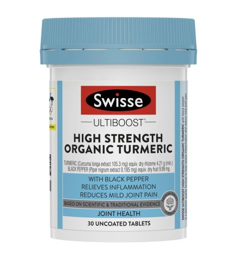 Swisse Ultiboost High Strength Organic Turmeric 30 Tablets