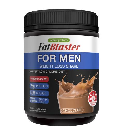 Naturopathica FatBlaster For Men Weight Loss Shake Chocolate 385g