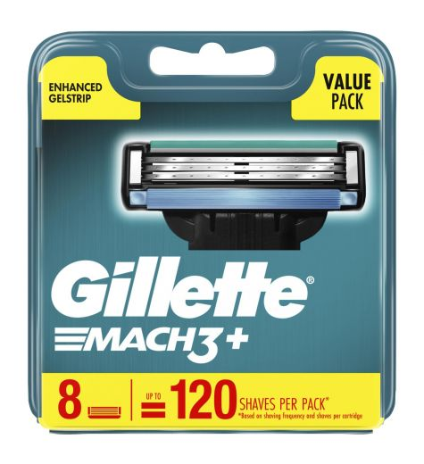 Gillette Mach 3 + Cartridges 8 Pack