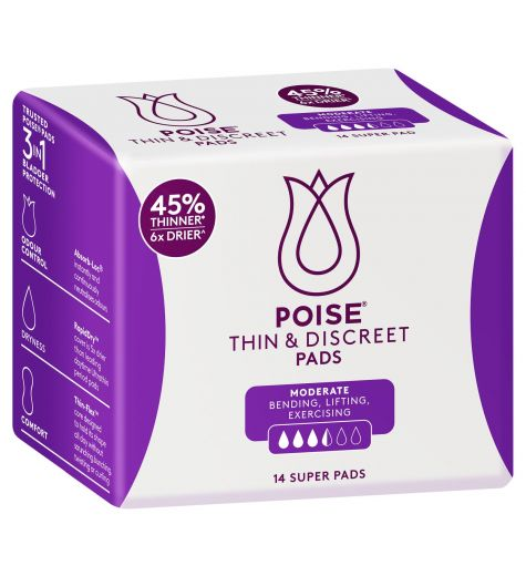 Poise Thin & Discreet Super Pads 14