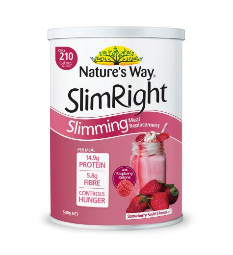 Natures Way SlimRight Slimming Meal Replacement Shake Strawberry Swirl 500g