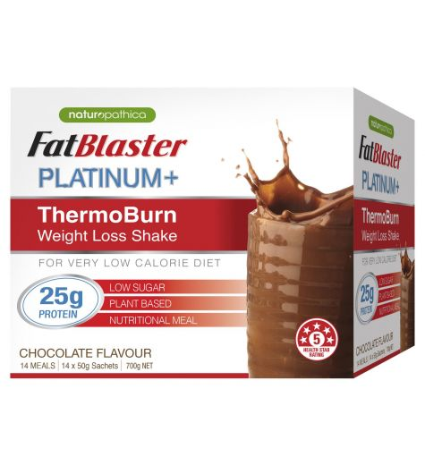 Fat Blaster Platinum + ThermoBurn Chocolate Weight Loss Shake 14 x 50g Sachets