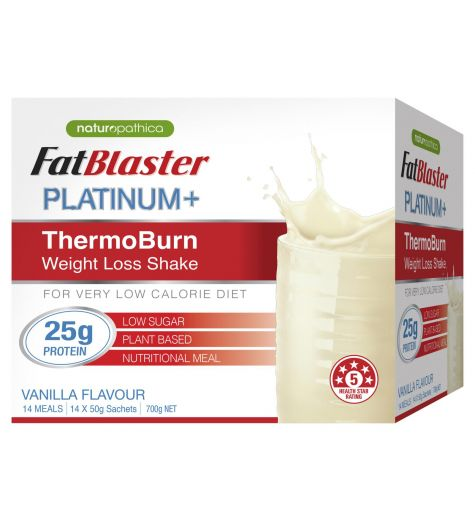 Fat Blaster Platinum + ThermoBurn Vanilla Weight Loss Shake 14 x 50g Sachets