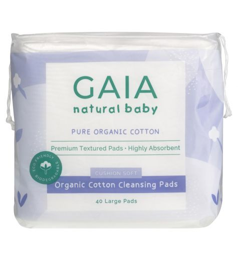 Gaia Natural Pure Organic Cotton Cleansing Pads 40