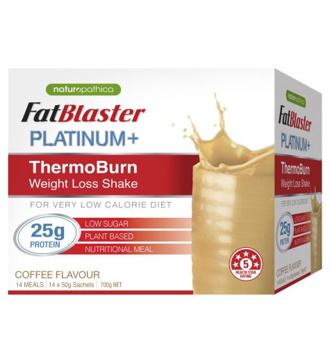 Fat Blaster Platinum + ThermoBurn Coffee Weight Loss Shake 14 x 50g Sachets
