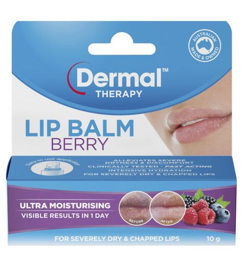 Dermal Therapy Berry Lip Balm 10g