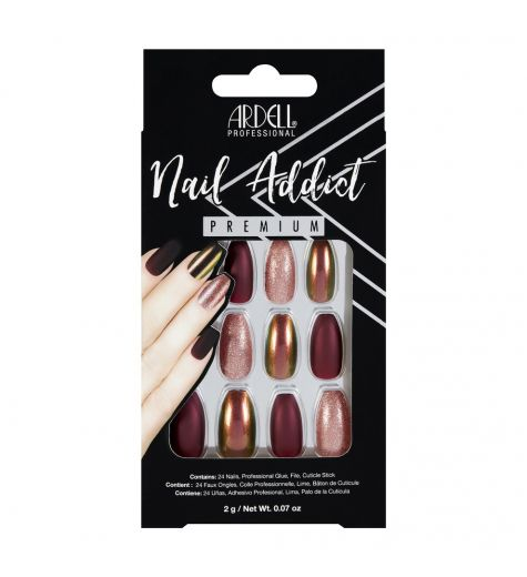 Ardell Nail Addict Premium Red Cateye Press On Nails