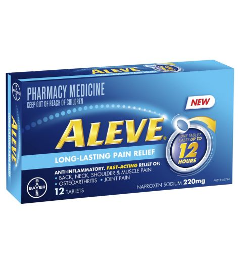 Aleve 12 Hour Long-Lasting Pain Relief Tablets 12