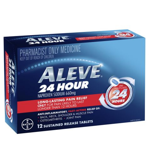 Aleve 24 Hour Long-Lasting Pain Relief Tablets 12